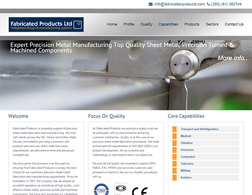 Fabricated Products Website